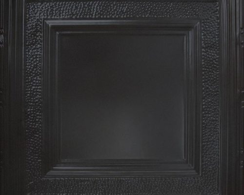 Stalen plafondtegel zwart met patroon